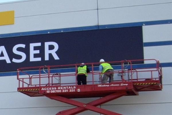 Installing Retail Signage