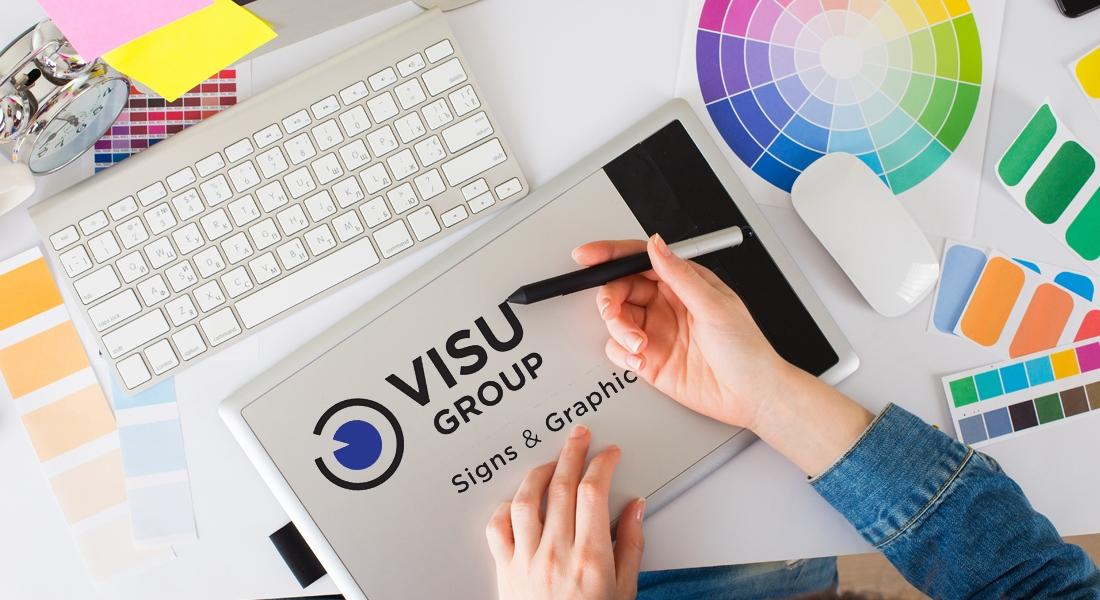 Visual Group drawing a logo
