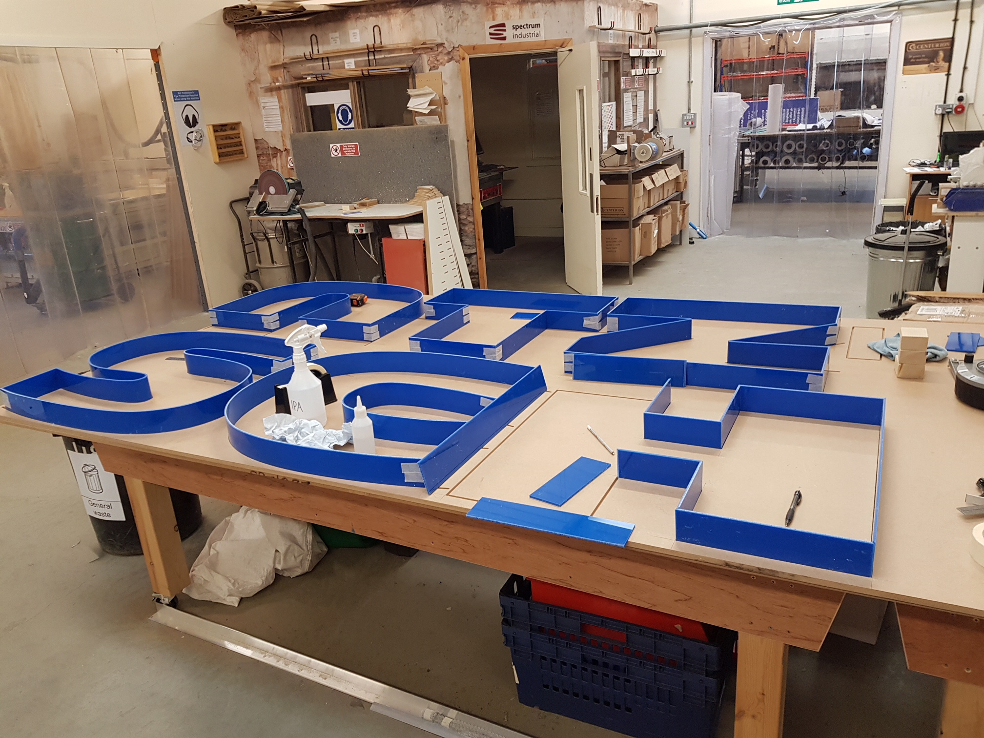 sign making process led Doncaster custom manufacture