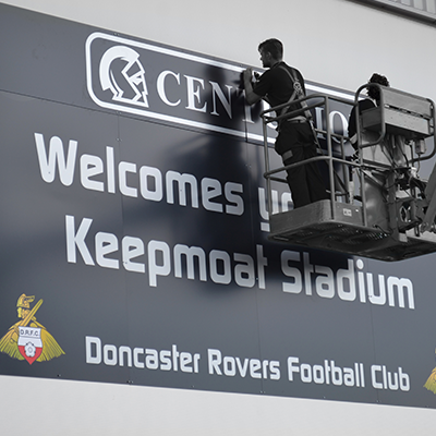 football rugby stadium sign maker install manufacture Doncaster Sheffield Leeds