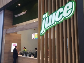 Juice Bar Shopping Centre Internal LED Sign