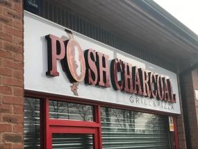 Posh Charcoal LED Signage