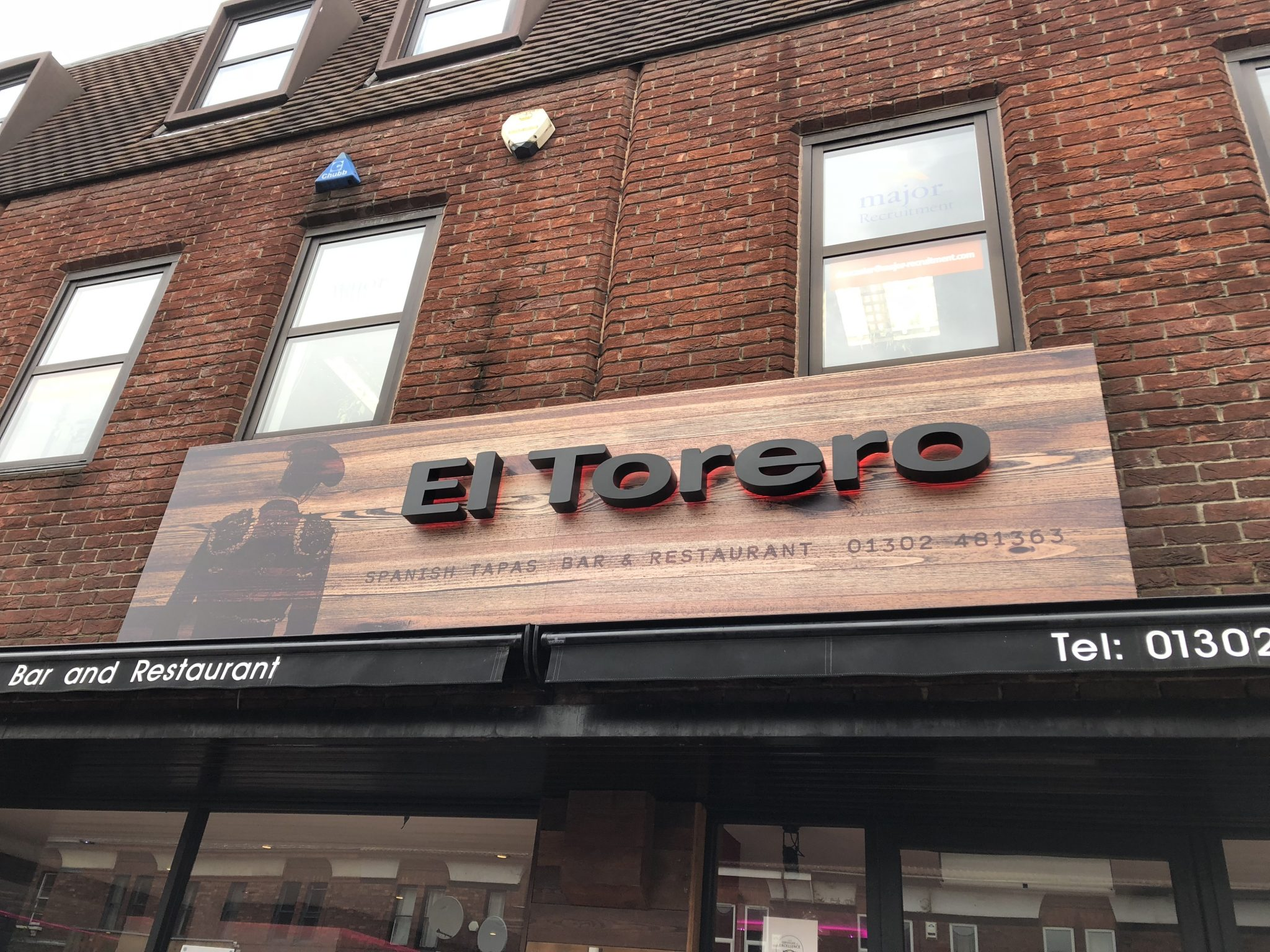 El Torerro Shop Restaurant Sign Doncaster