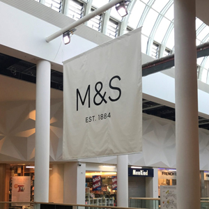 retail sign M and S