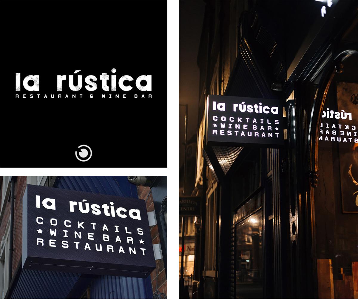 Visual Group La Rustica Bar Restaurant Sign