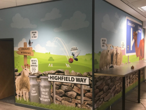 Highfield – Wall Graphics